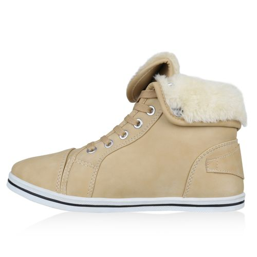 Damen Sneaker high - Nude