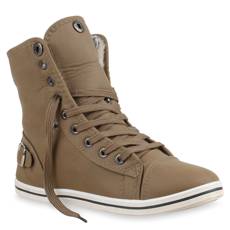 size 40 78b6c 6fa86 Damen Sneaker high - Hellbraun