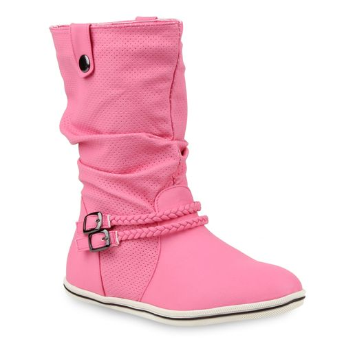 official photos bf3e8 319fb Damen Stiefel Schlupfstiefel - Pink