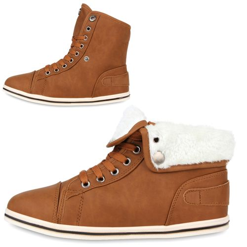 Damen Sneaker high - Braun