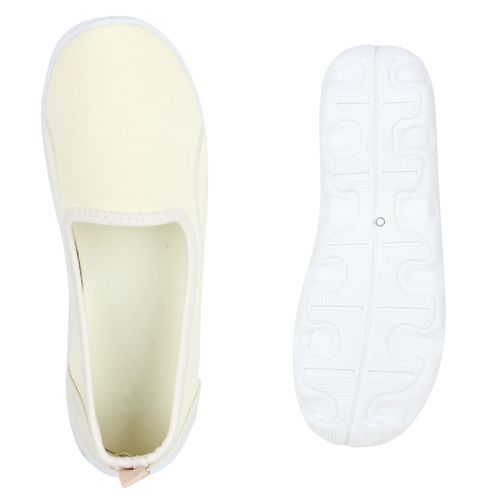 Damen Slippers Slip Ons - Nude