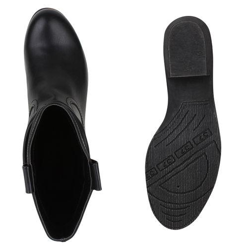 Damen Stiefeletten Boots Cowboy Damen Stiefeletten Schwarz Boots Cowboy Schwarz Damen RRrCwq6