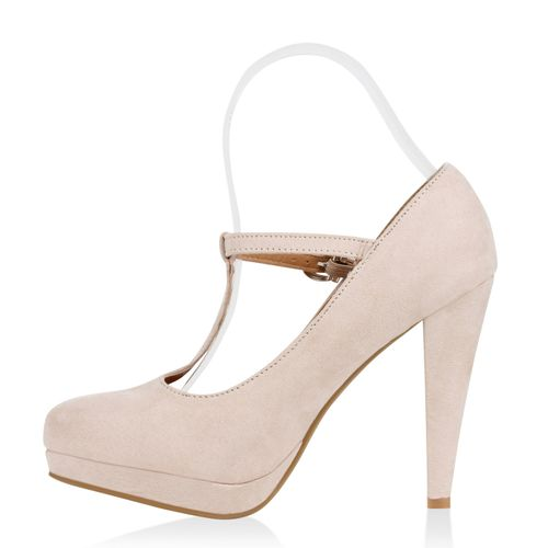 Damen Pumps Mary Janes - Nude
