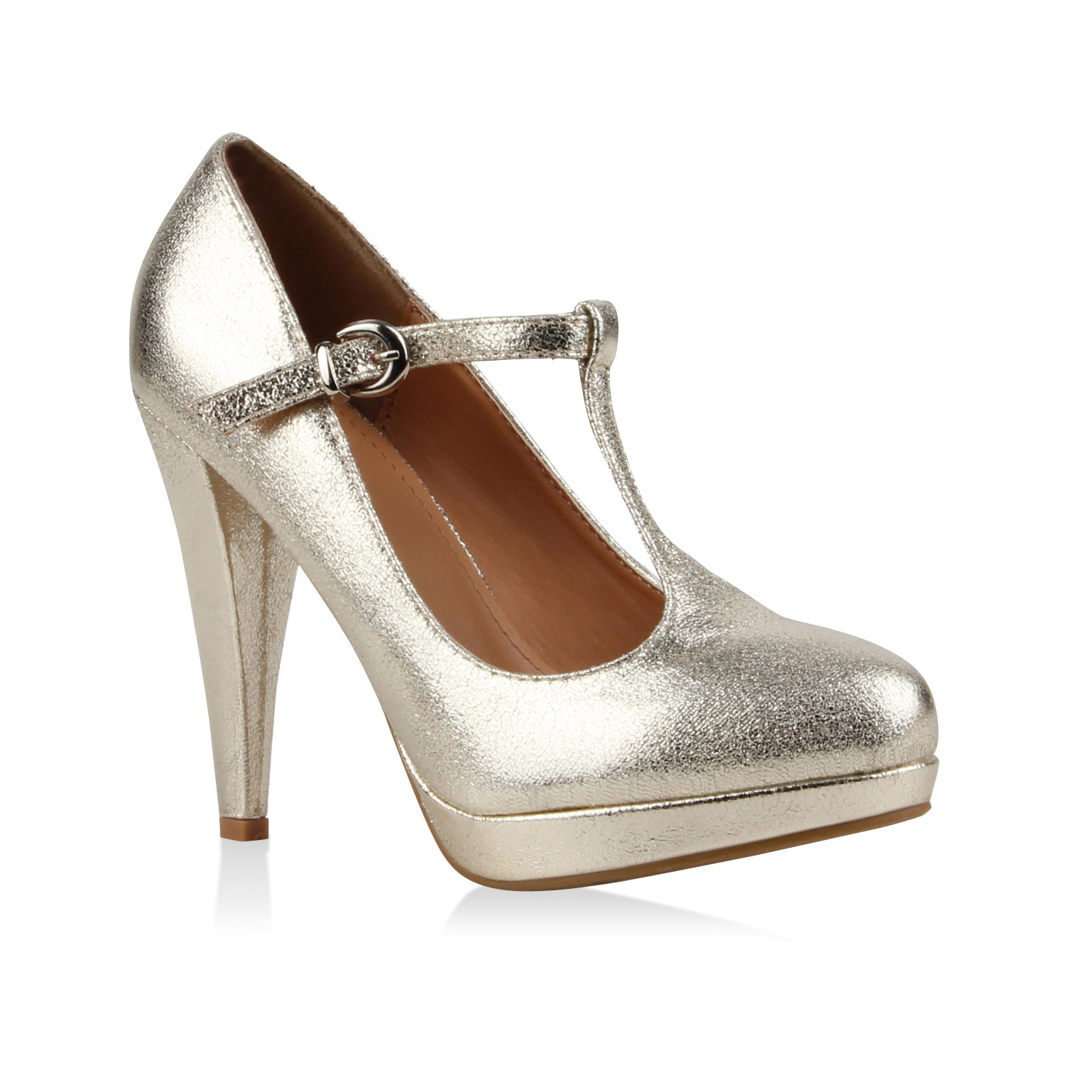 Damen Pumps Mary Janes - Gold