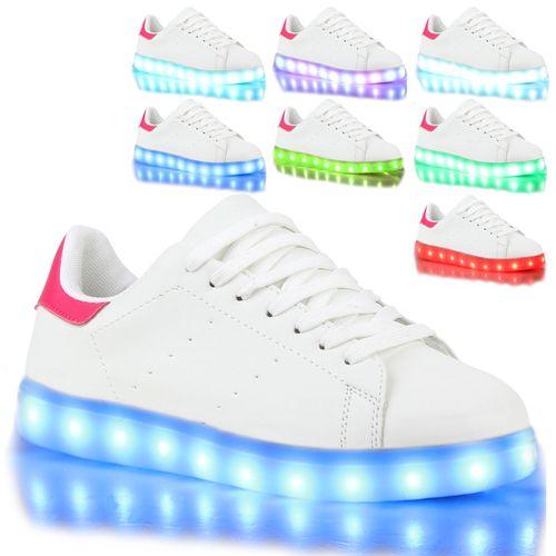 Damen Sneaker low - Weiß Pink