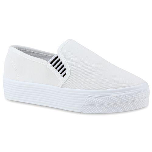Damen Sneaker Slip Ons - Weiß