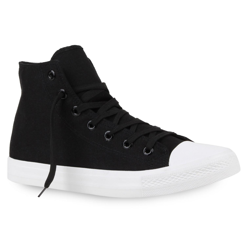Herren Sneaker high - Schwarz Weiß
