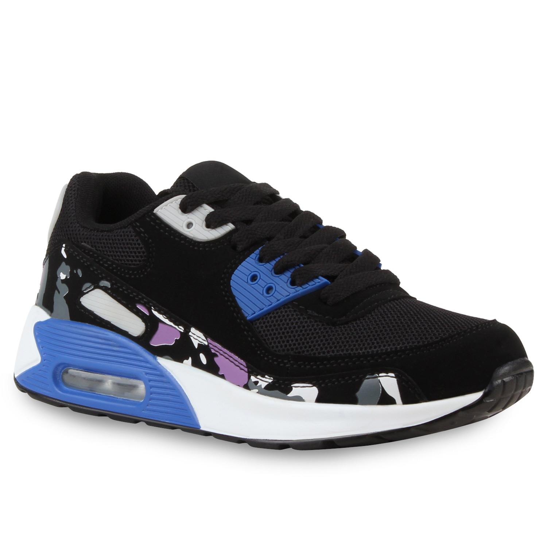 Damen Sportschuhe Laufschuhe - Schwarz Blau