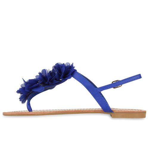 Damen Sandalen Zehentrenner - Blau