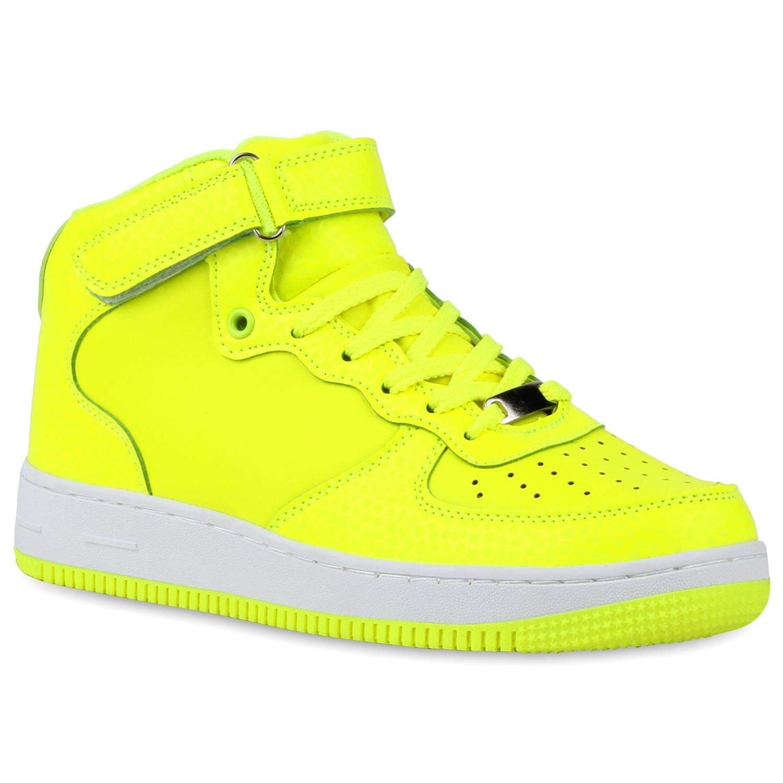 Damen Sportschuhe Basketballschuhe - Neongelb