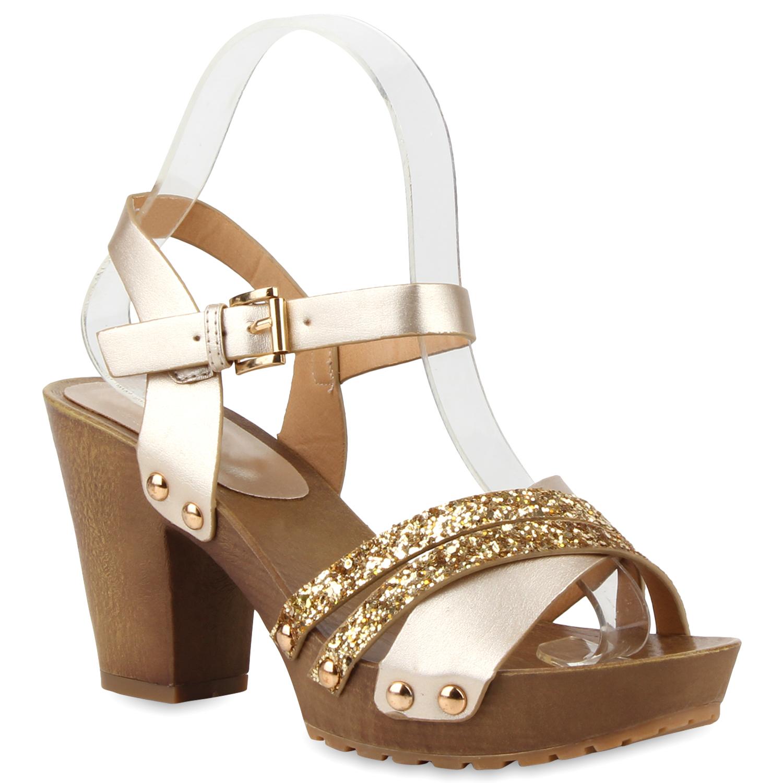 Damen Sandaletten Plateau Sandaletten - Gold