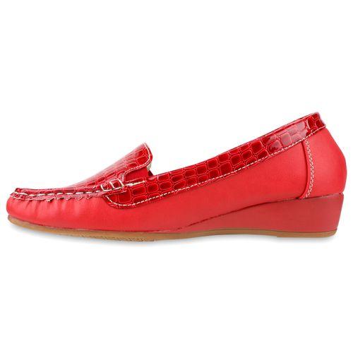 Damen Slippers Keilslippers - Rot