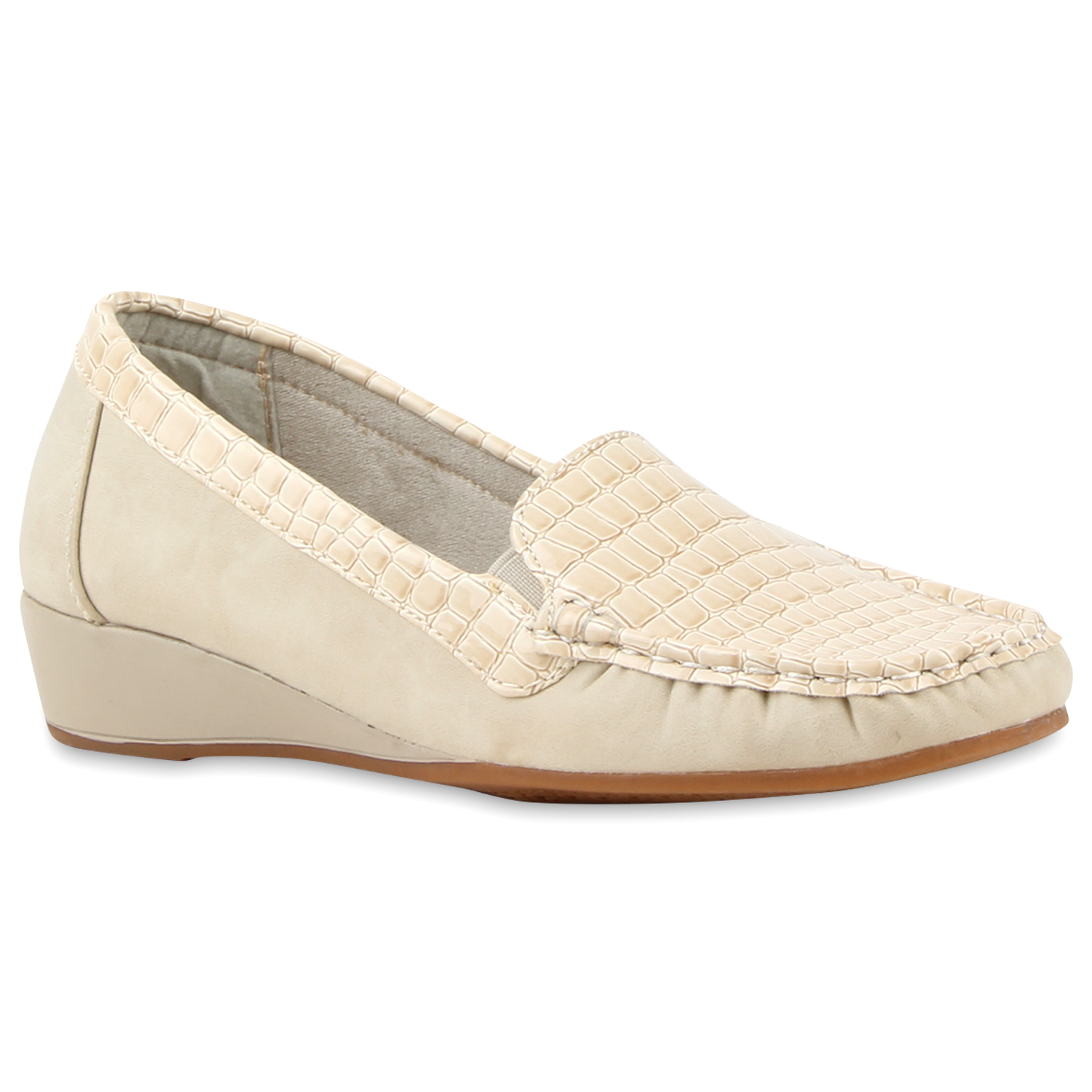 Damen Slippers Keilslippers - Creme