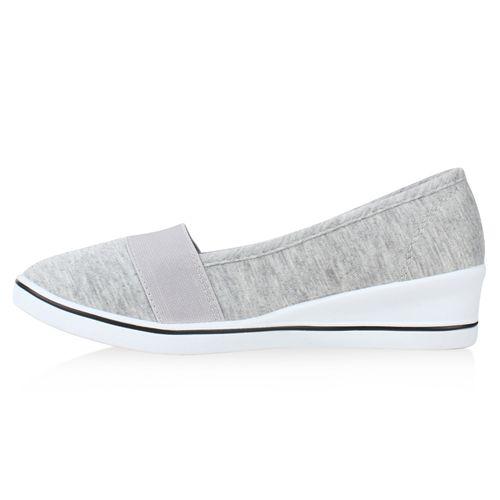 Damen Keilslippers - Grau