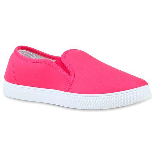 Damen Sneaker Slip Ons - Pink