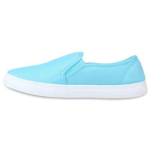 Damen Sneaker Slip Ons - Hellblau
