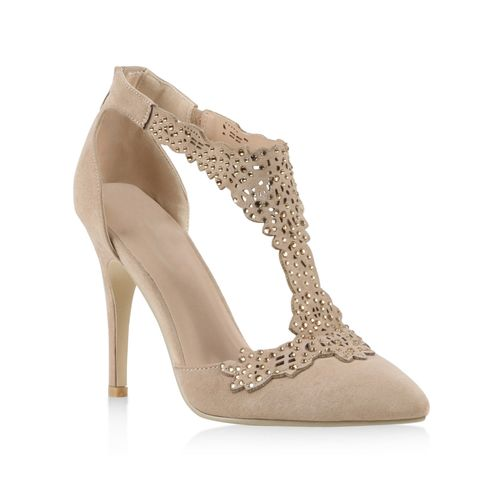 5dd11b34fb4041 Damen Pumps in Creme (810546-493) - stiefelparadies.de