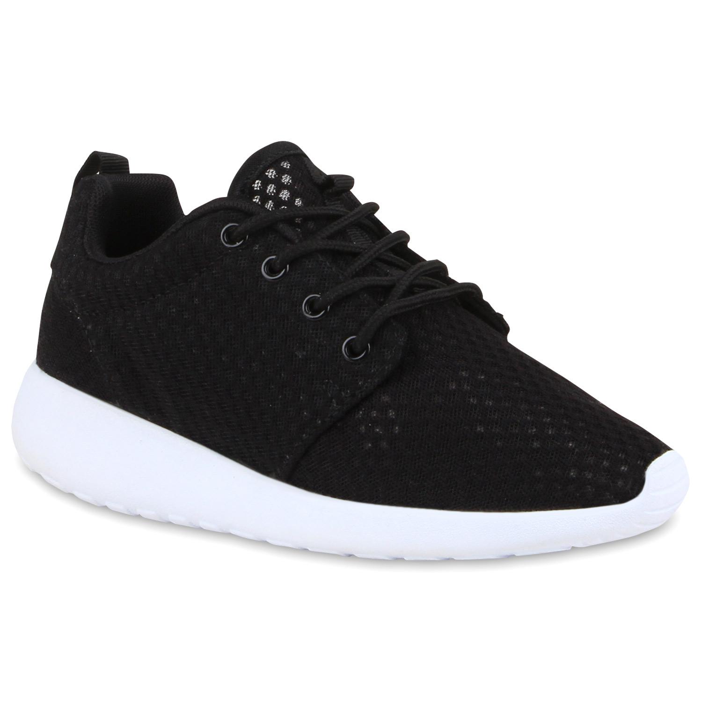Damen Sportschuhe Laufschuhe - Schwarz Weiß