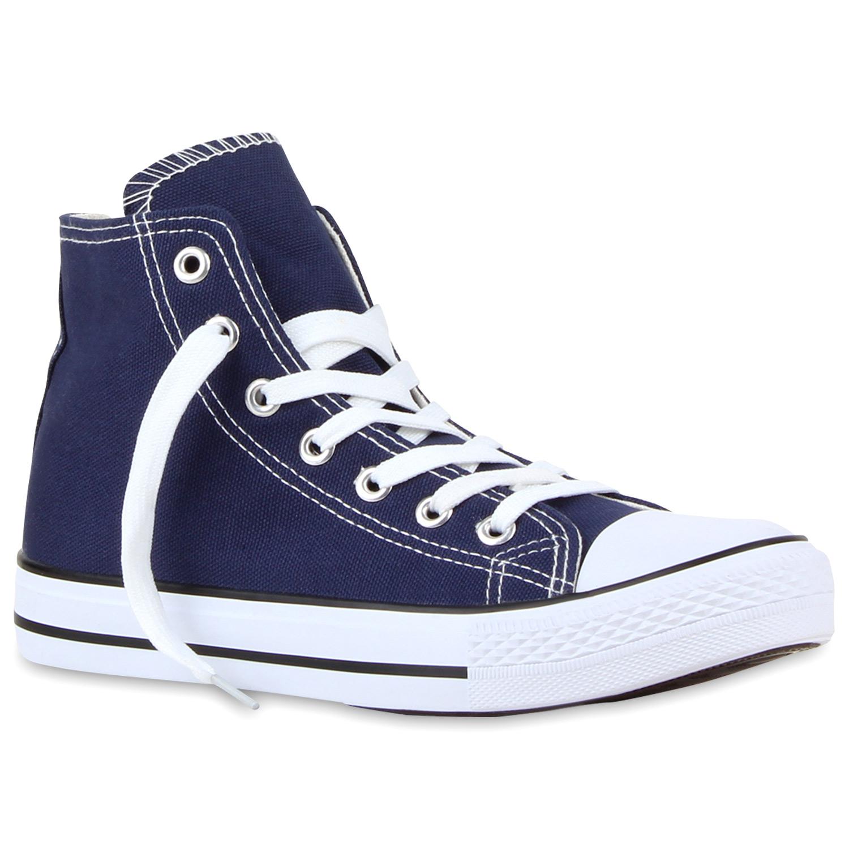 Damen Sneaker high - Marineblau