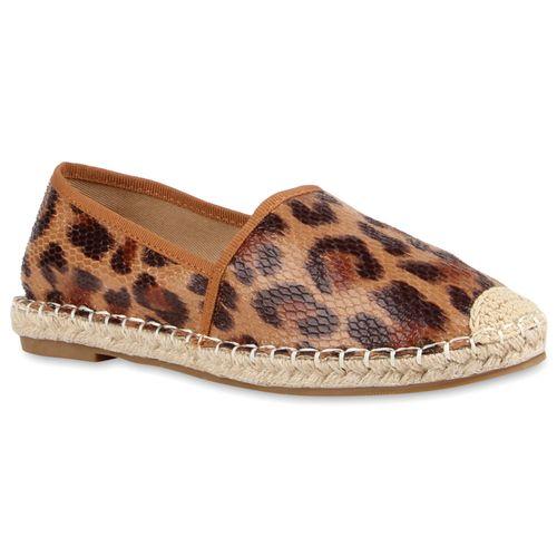 Damen Slippers Espadrilles - Leopard