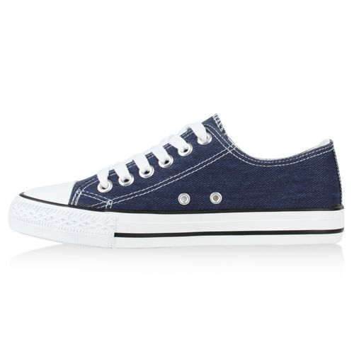 Damen Blau Denim Sneaker Sneaker Damen Low BxPzBaq7