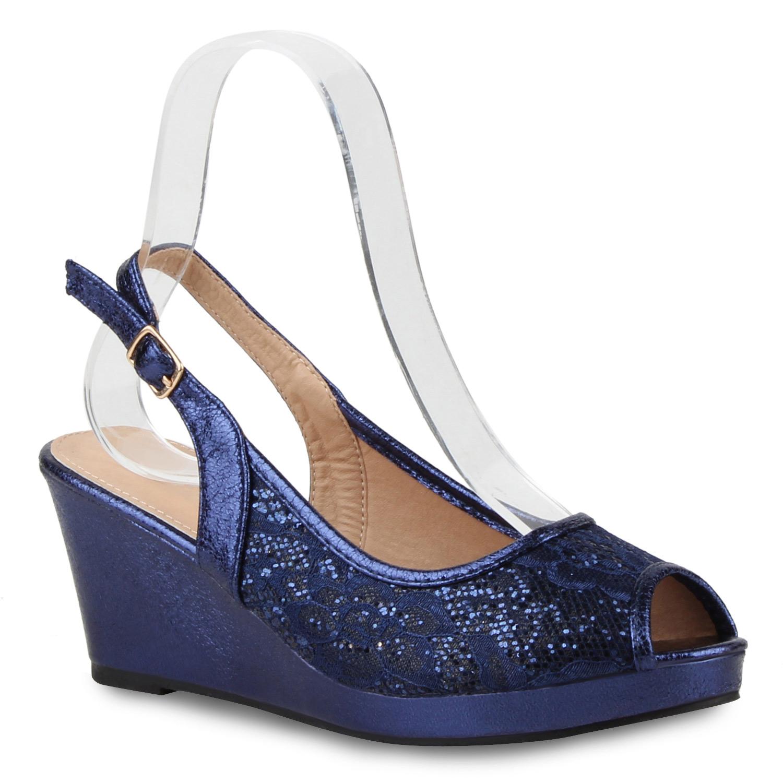 Damen Pumps Slingpumps - Blau