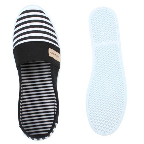 Damen Slippers Slip Ons - Schwarz