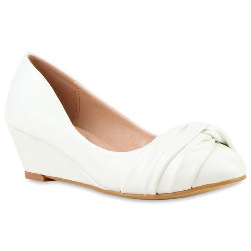 Damen Pumps Keilpumps - Weiß