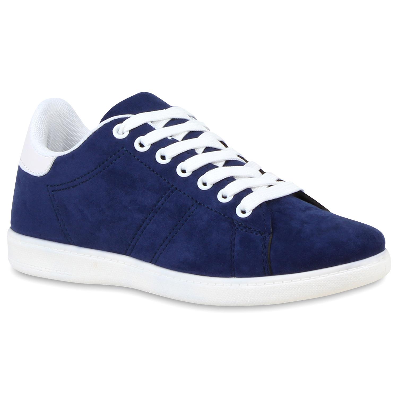Damen Sneaker low - Blau Weiß