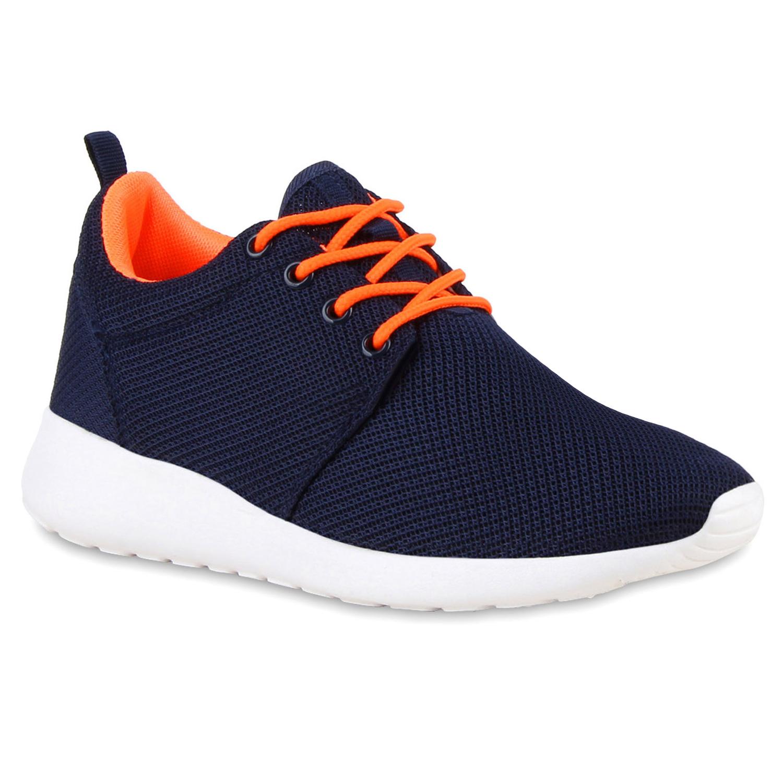 Damen Sportschuhe Laufschuhe - Dunkelblau Orange