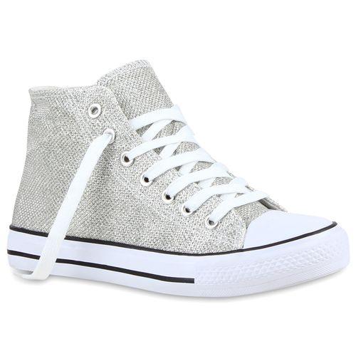 Damen Sneaker high - Silber