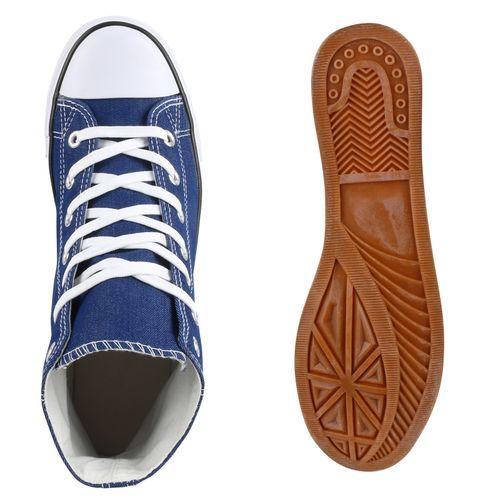 Herren Sneaker high - Blau Denim