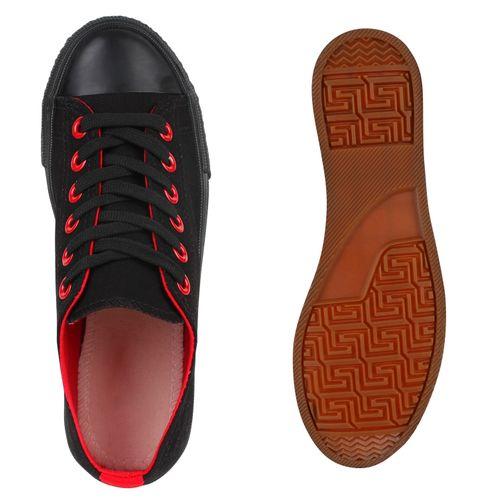 Damen Sneaker low - Schwarz Rot