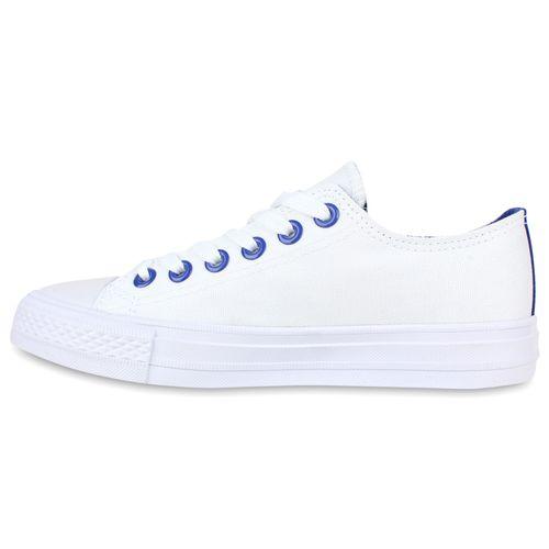 Damen Sneaker low - Weiß Blau