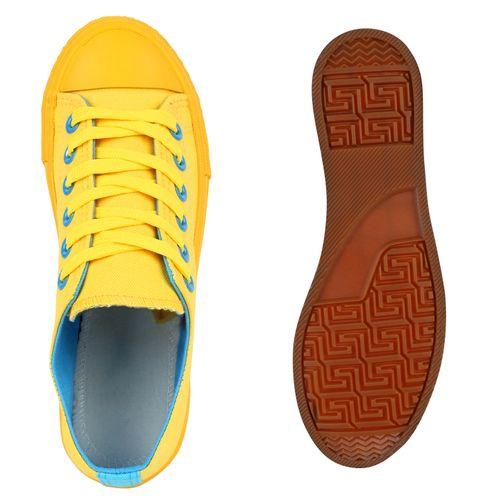 Damen Sneaker low - Gelb Blau