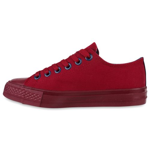Damen Sneaker low - Bordeaux Navy