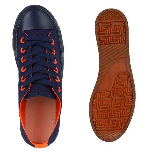 Damen Sneaker low - Dunkelblau Orange