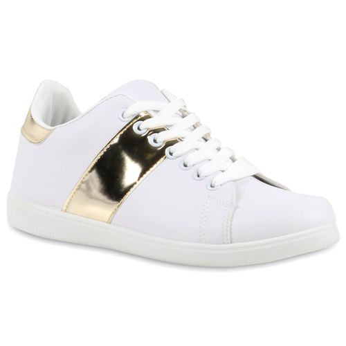 Damen Sneaker low - Weiß Gold
