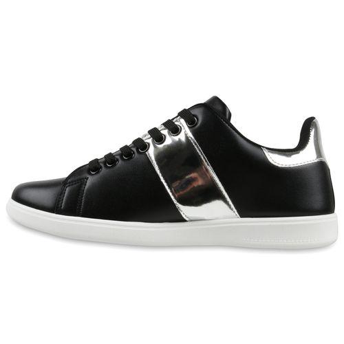 Damen Sneaker low - Schwarz Silber