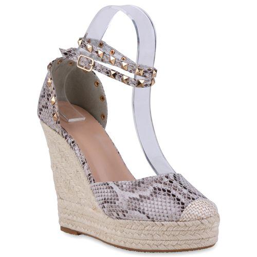 Damen Sandaletten Keilsandaletten - Muster