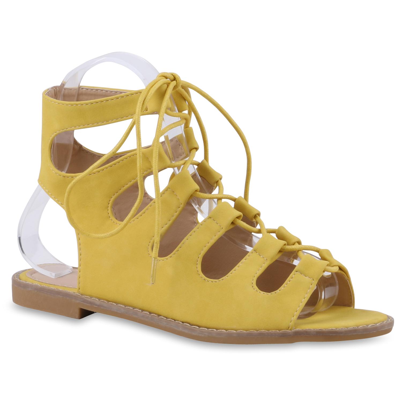 Damen Sandalen Römersandalen - Gelb