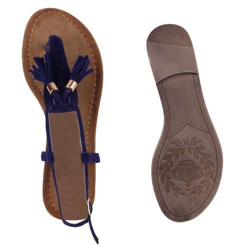 Damen Sandalen in Dunkelblau (811506-512) - stiefelparadies.de 5703a0b666