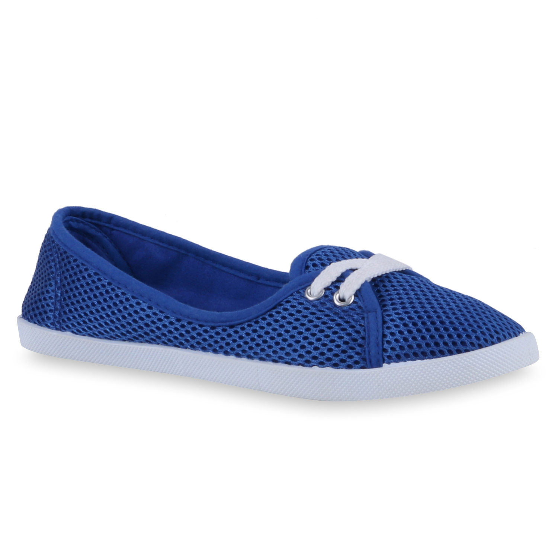 Damen Sportliche Ballerinas - Blau