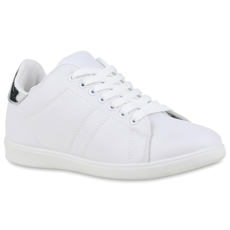 Damen Sneaker low - Weiß Silber