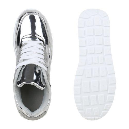 Damen Sportschuhe Laufschuhe - Silber Lack