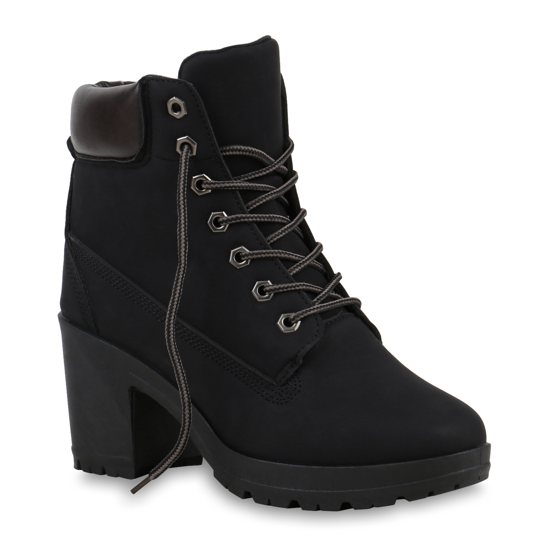 huge discount 8b687 31330 Details zu Damen Worker Boots Profil Sohle Block Absatz Stiefeletten 811964  Schuhe