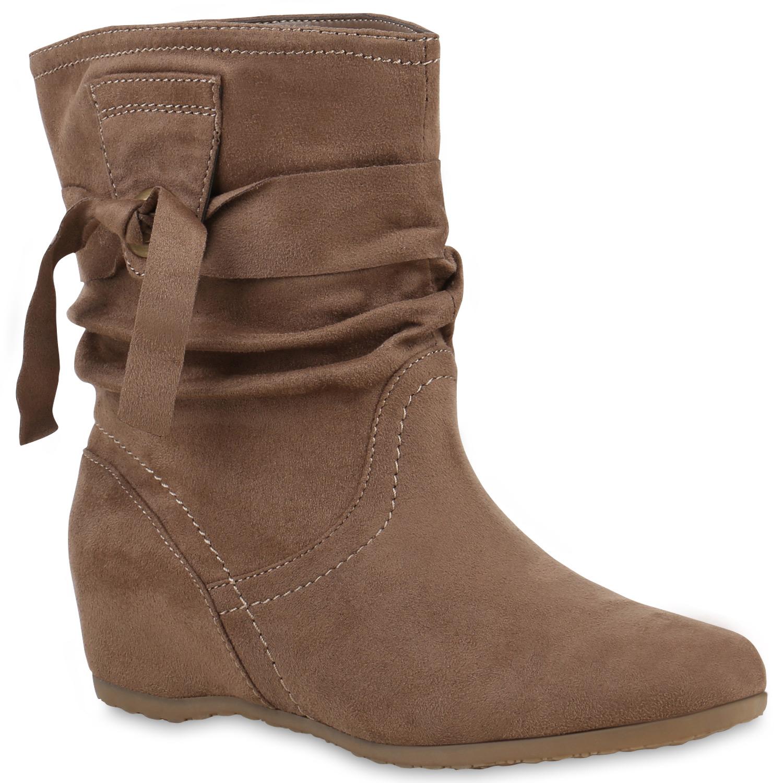 Stiefel für Frauen - Damen Stiefel Schlupfstiefel Khaki  - Onlineshop Stiefelparadies