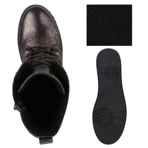 Damen Sneakerstiefel - Grau