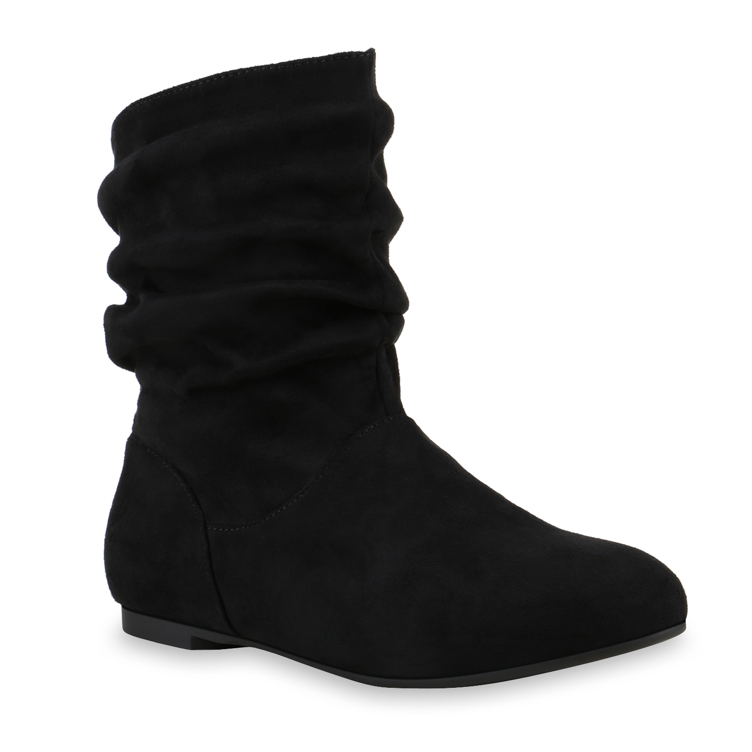Damen Stiefeletten Schlupfstiefeletten - Schwarz