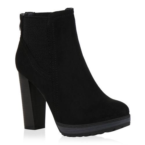 Damen Stiefeletten High Heels - Schwarz